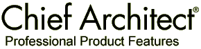 Chief Architect Professional Product Features