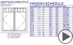 Window Schedule