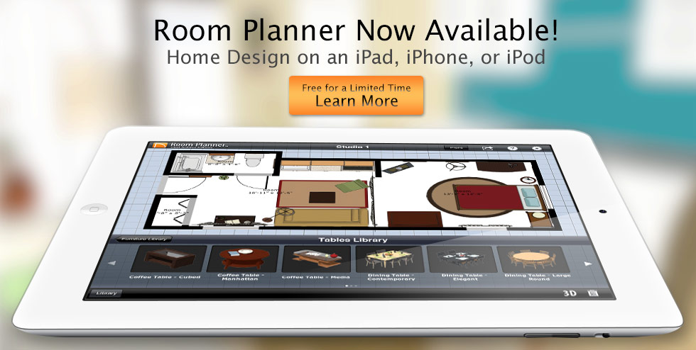 Room planner home design software app by chief architect Room layout design software