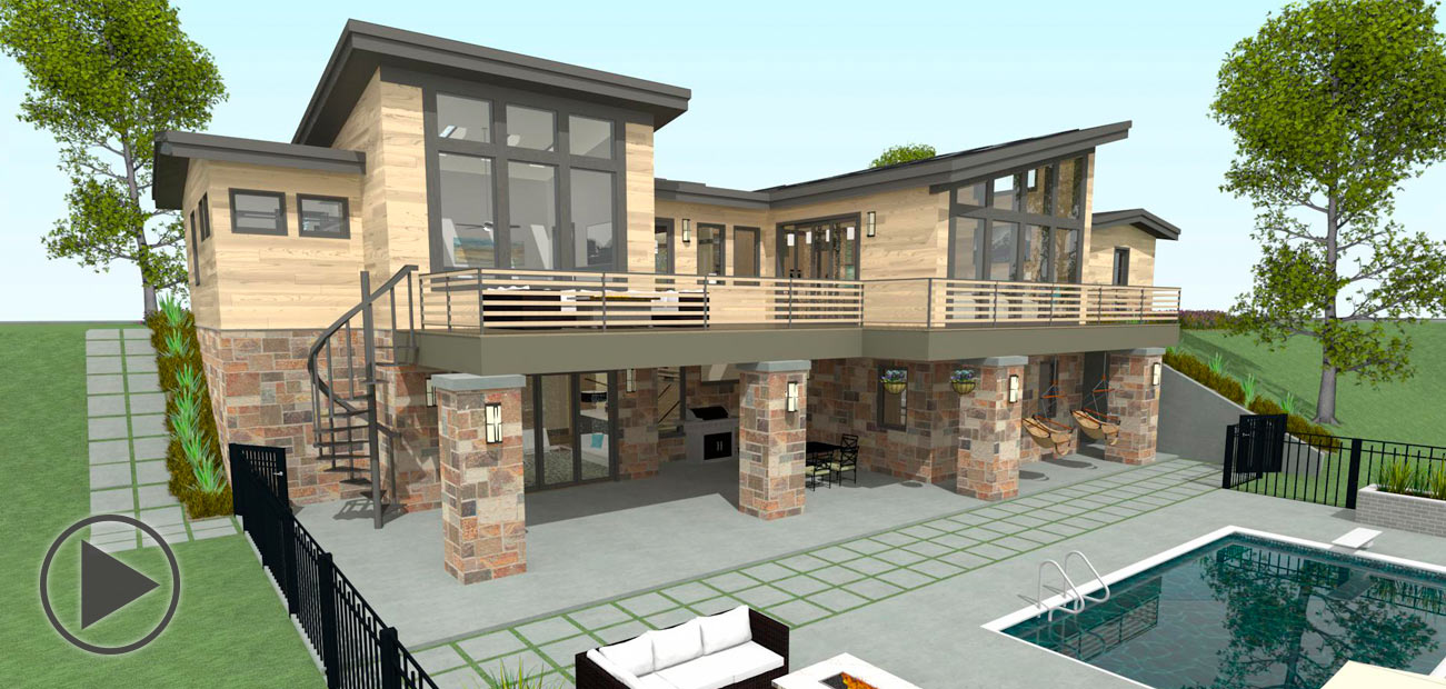 Bachelor View sample plan virtual tour and 3D walkthrough.