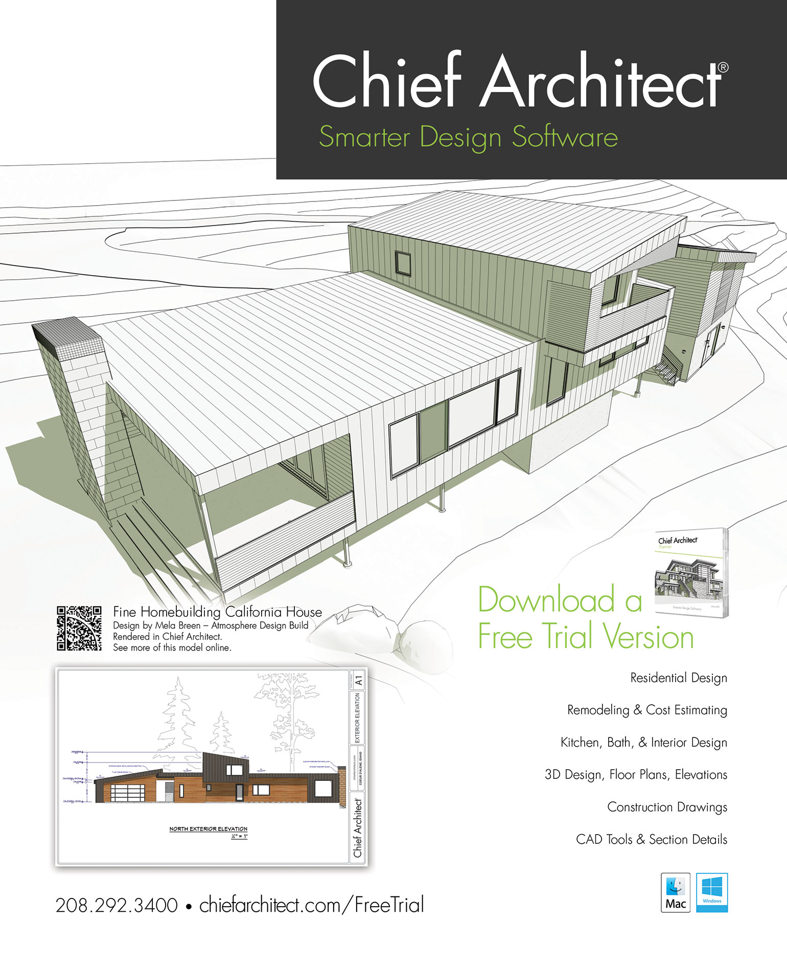 Fine Homebuilding House 2018 - California House | Chief Architect on simple house plans, house schematics, traditional house plans, 2 story house plans, residential house plans, colonial house plans, bungalow house plans, craftsman house plans, house site plan, house design, small house plans, duplex house plans, big luxury house plans, house exterior, country house plans, mediterranean house plans, luxury home plans, house blueprints, house layout, modern house plans,