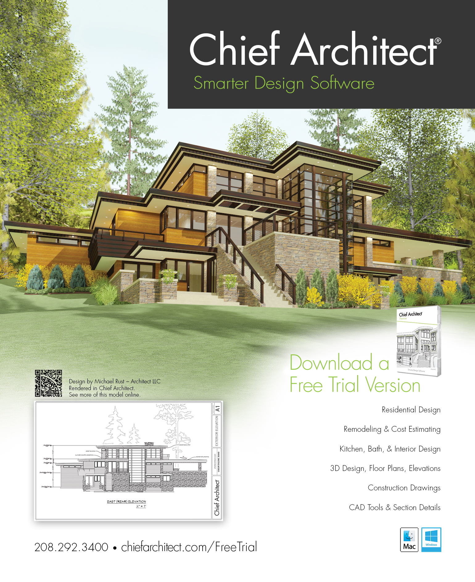 Chief architect home design software ad for Home designer architectural
