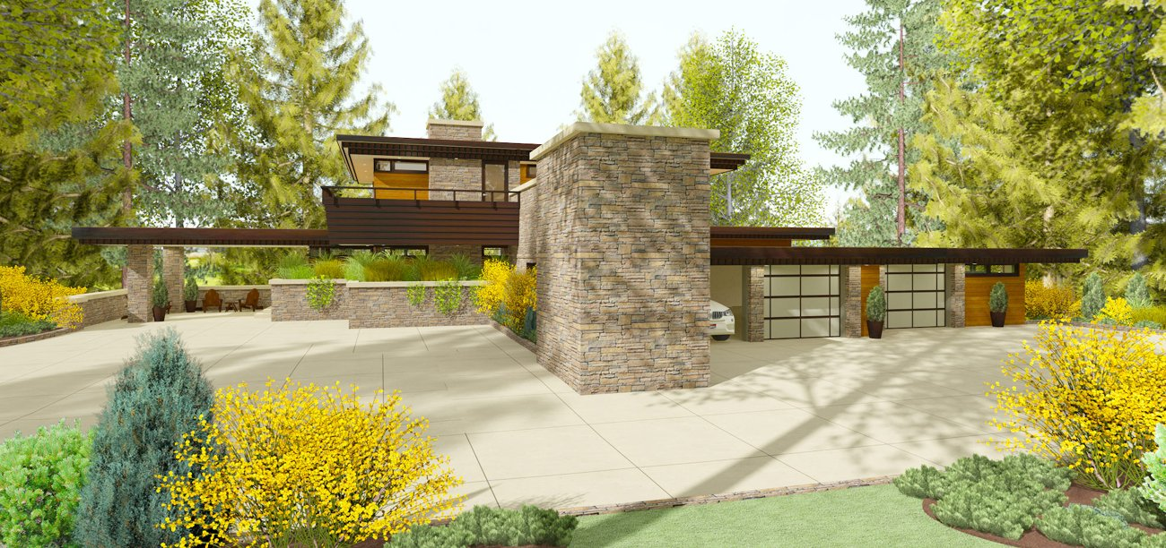 Rendering Of The Michael Rust Architect House Design