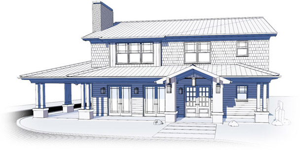 Technical House Drawing