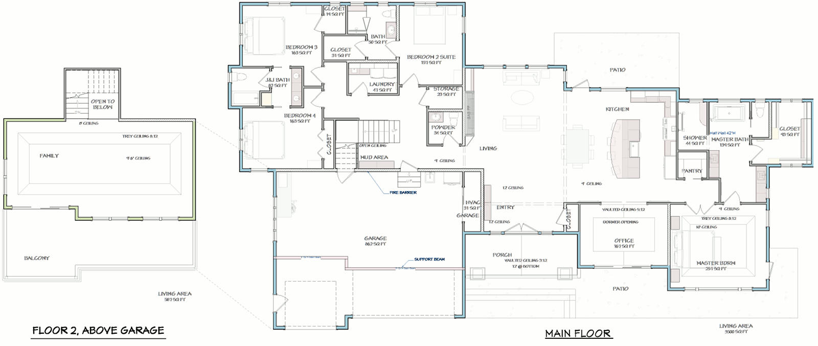 Grandview Spec Home Floorplan