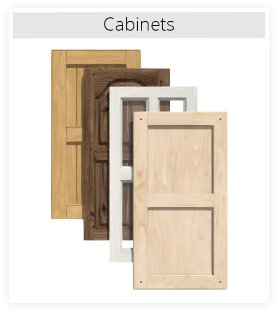 Several cabinet door styles