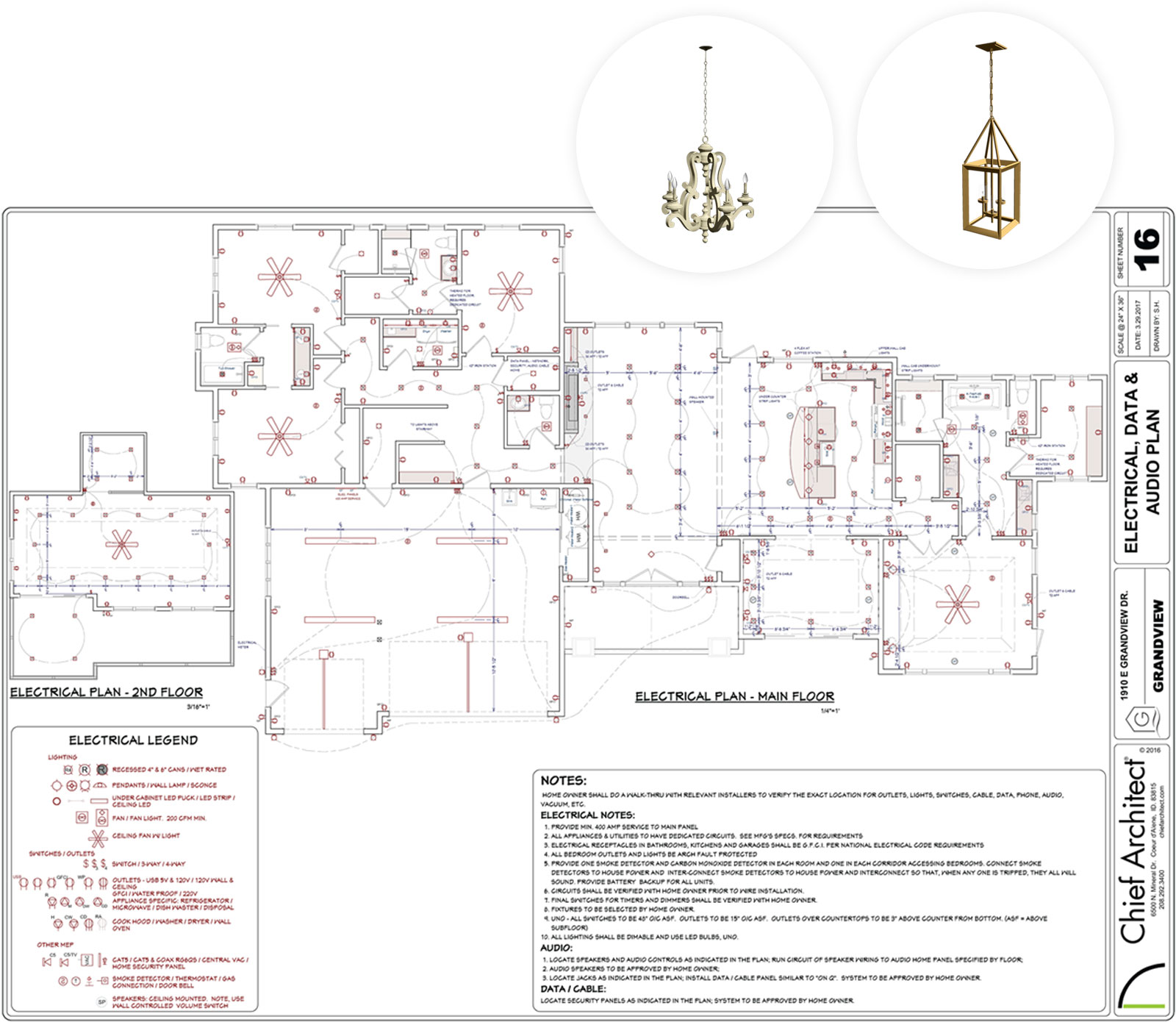 Sample Electrical U0026 Lighting Planset
