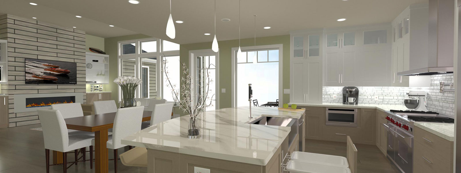 Kitchen Designed And Rendered Using Chief Architect Software