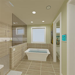 Grandview master bath 360° panorama