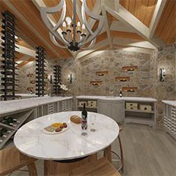Wine cellar 360° panorama