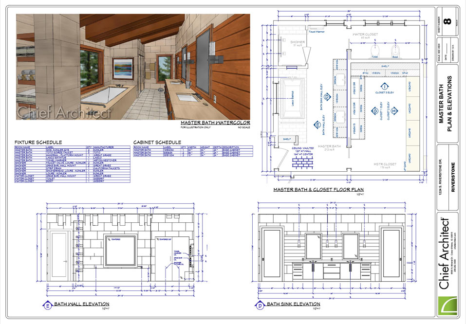 Chief architect interior software for professional for Bathroom design planning tool