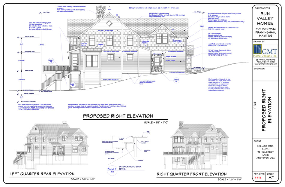 layout page of elevations - House Construction Program