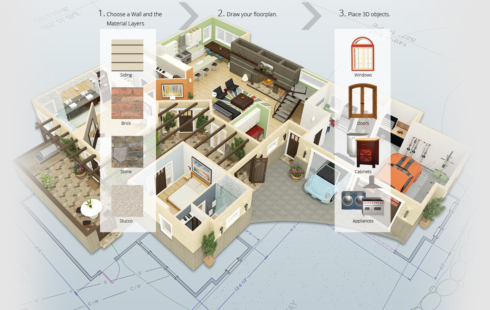 Home Design process in Chief Architect Software for Builders and Remodelers