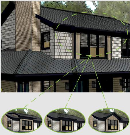 Various dormer roof styles