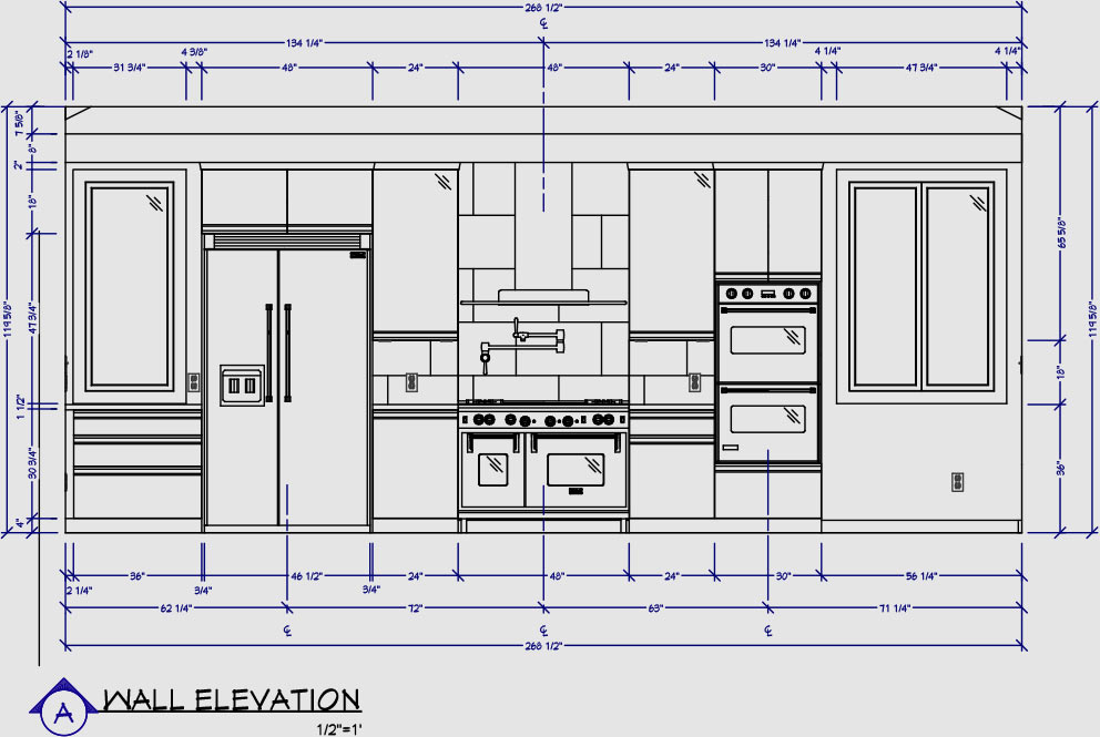 Chief architect interior software for professional for One wall kitchen dimensions