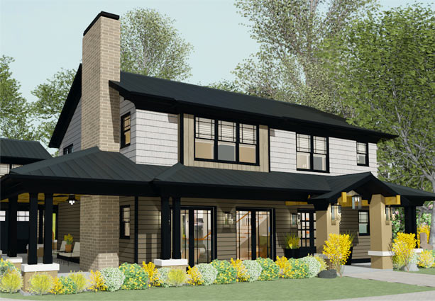 residential home designers. Modern Bungalow front view Chief Architect Home Design Software for Builders and Remodelers