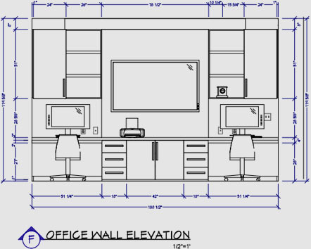Office wall elevation