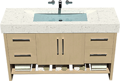 Vanity with a parabola sink