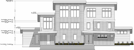 Elevation view of the Stone Creek design.