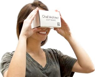 Chief Architect branded Google Cardboard headset
