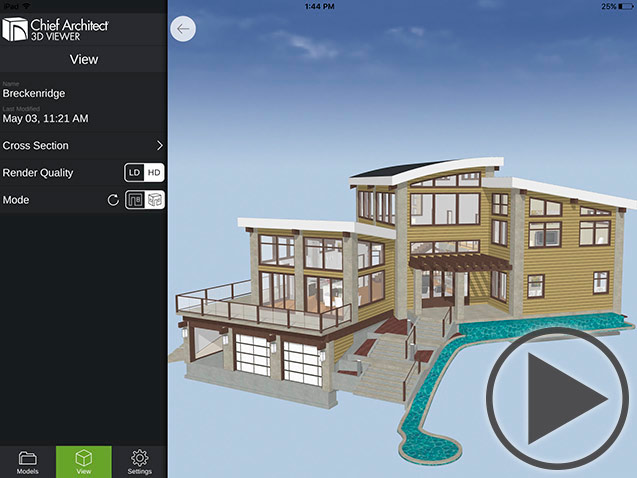 chief architect mobile 3d viewer overview video thumbnail - 3d Design Building