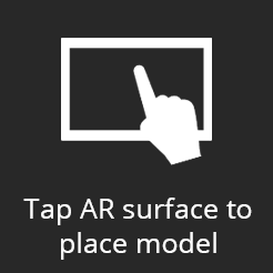 Augmented Reality surface grid icon for placing models.