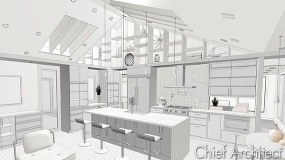 FIVE-12 KITCHEN Project- Room Layout and Exterior Dimensions