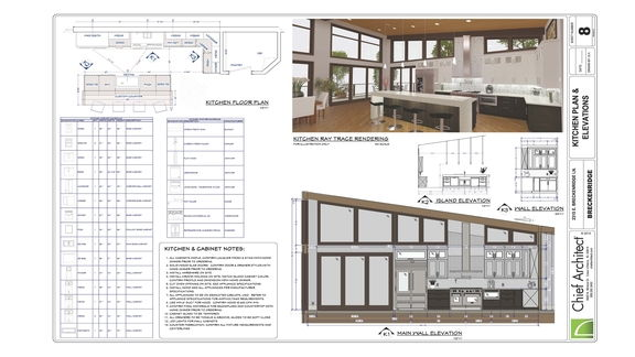 13: Kitchen Part 2, Waterfall Island & Construction Drawings
