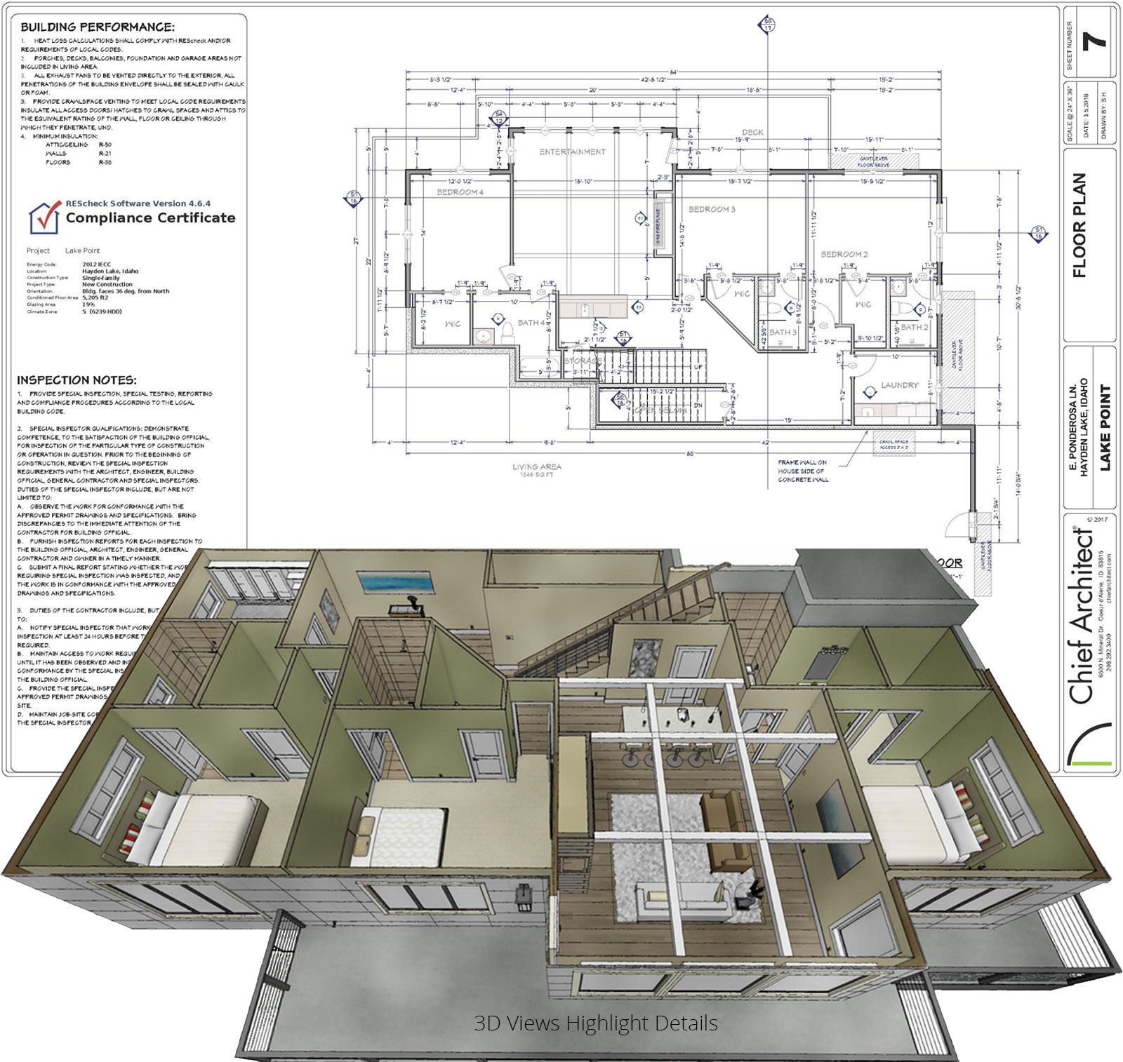 Bat Remodeling Rendering And Floorplan Details