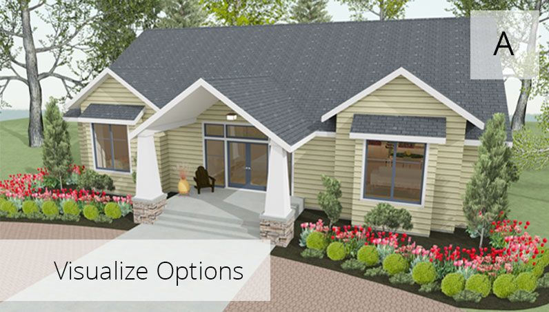 Remodel render of option A