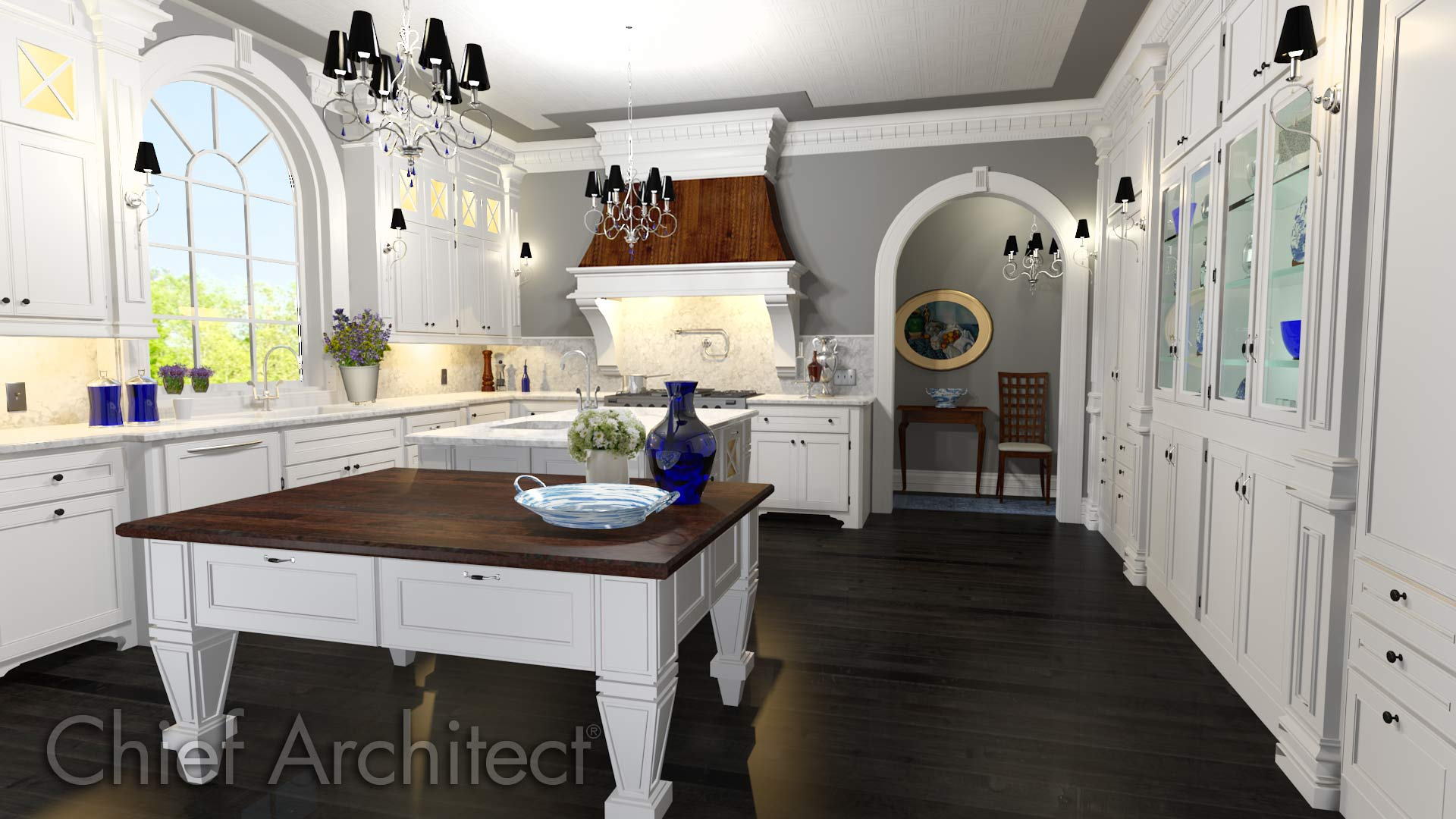 Chief architect home design software sample gallery for Building traditional kitchen cabinets pdf