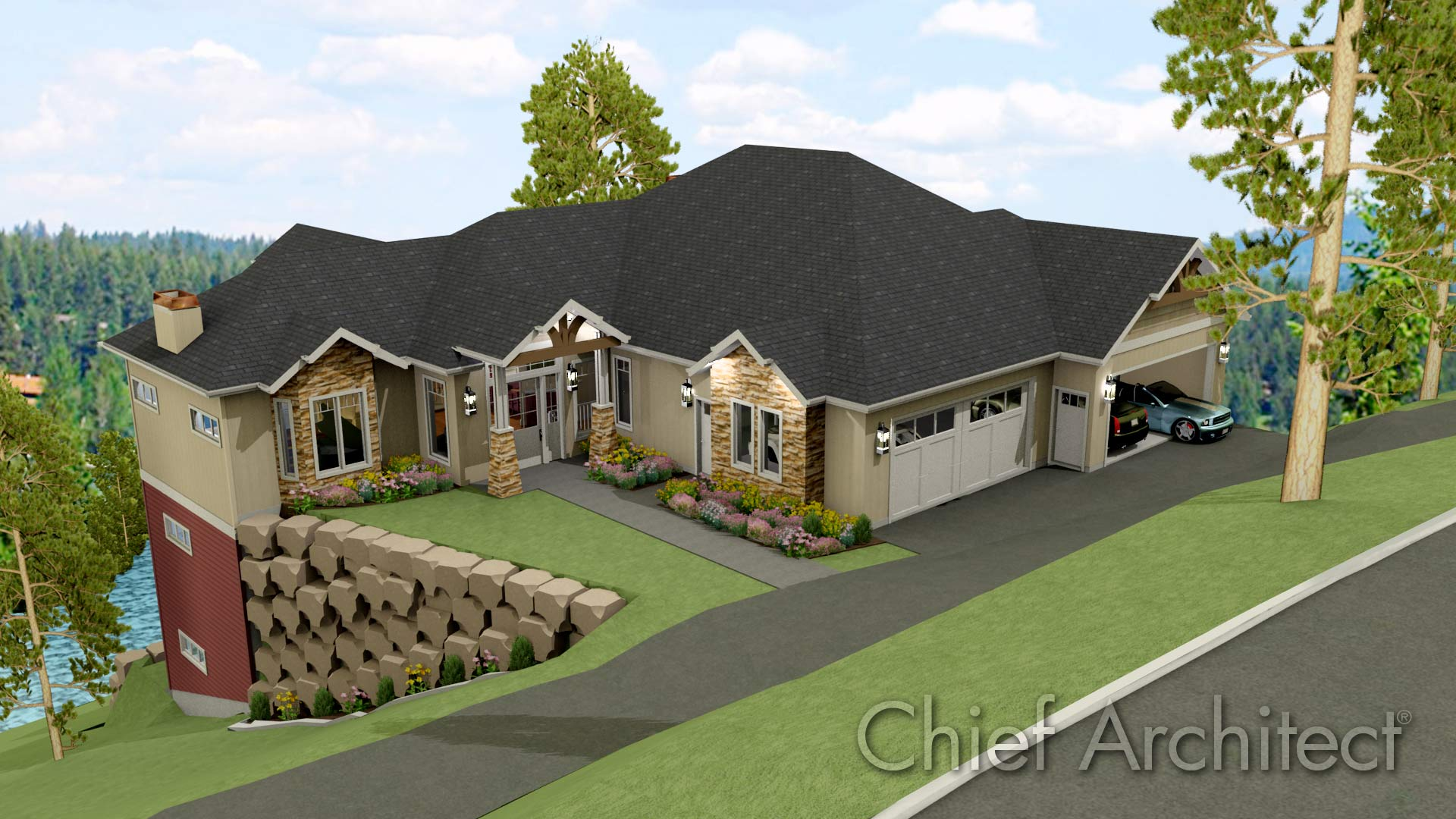 Chief architect home design software sample gallery for Home designer architectural