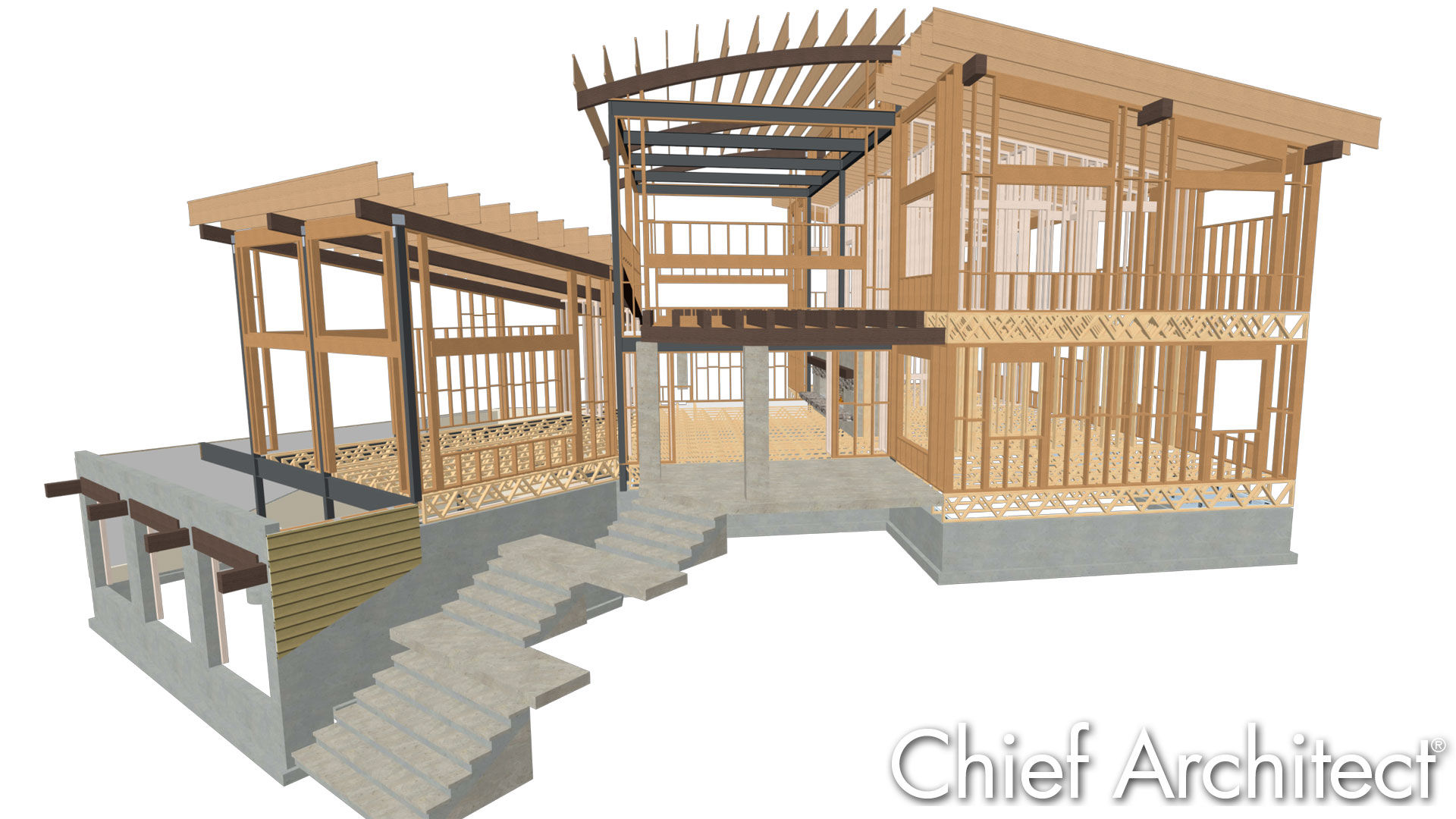 Chief architect home design software samples gallery for House framing plans