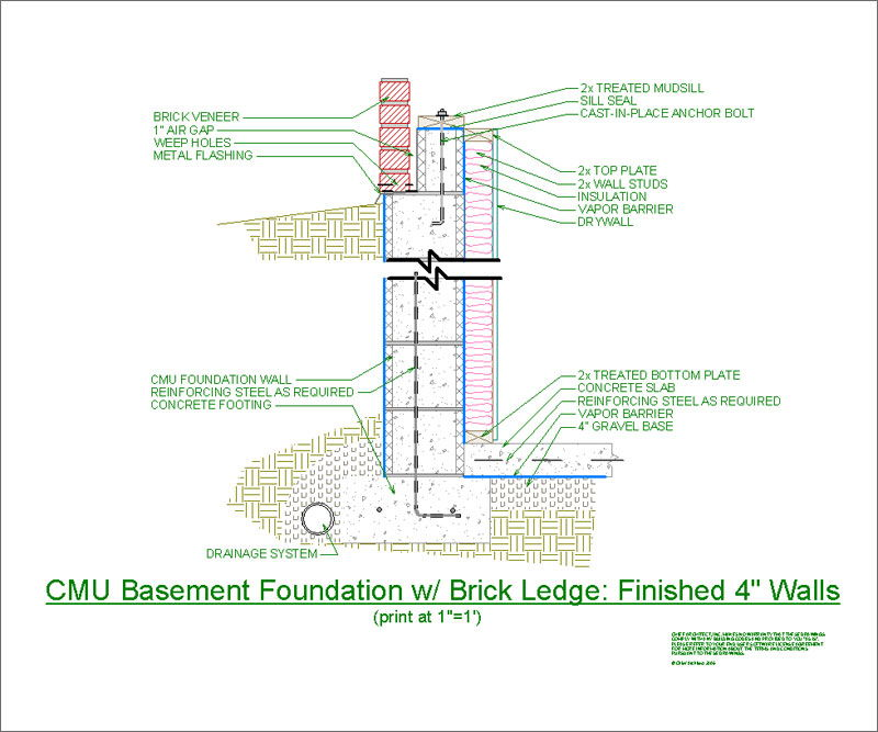 Basement Foundation Design foundation design drawings - methods of applications of damp proof