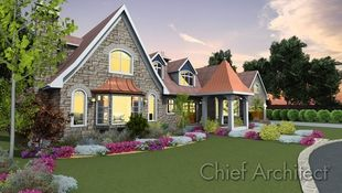 A stone 1 1/2 story house with steep ...</a> </p>   </div>   <div class=