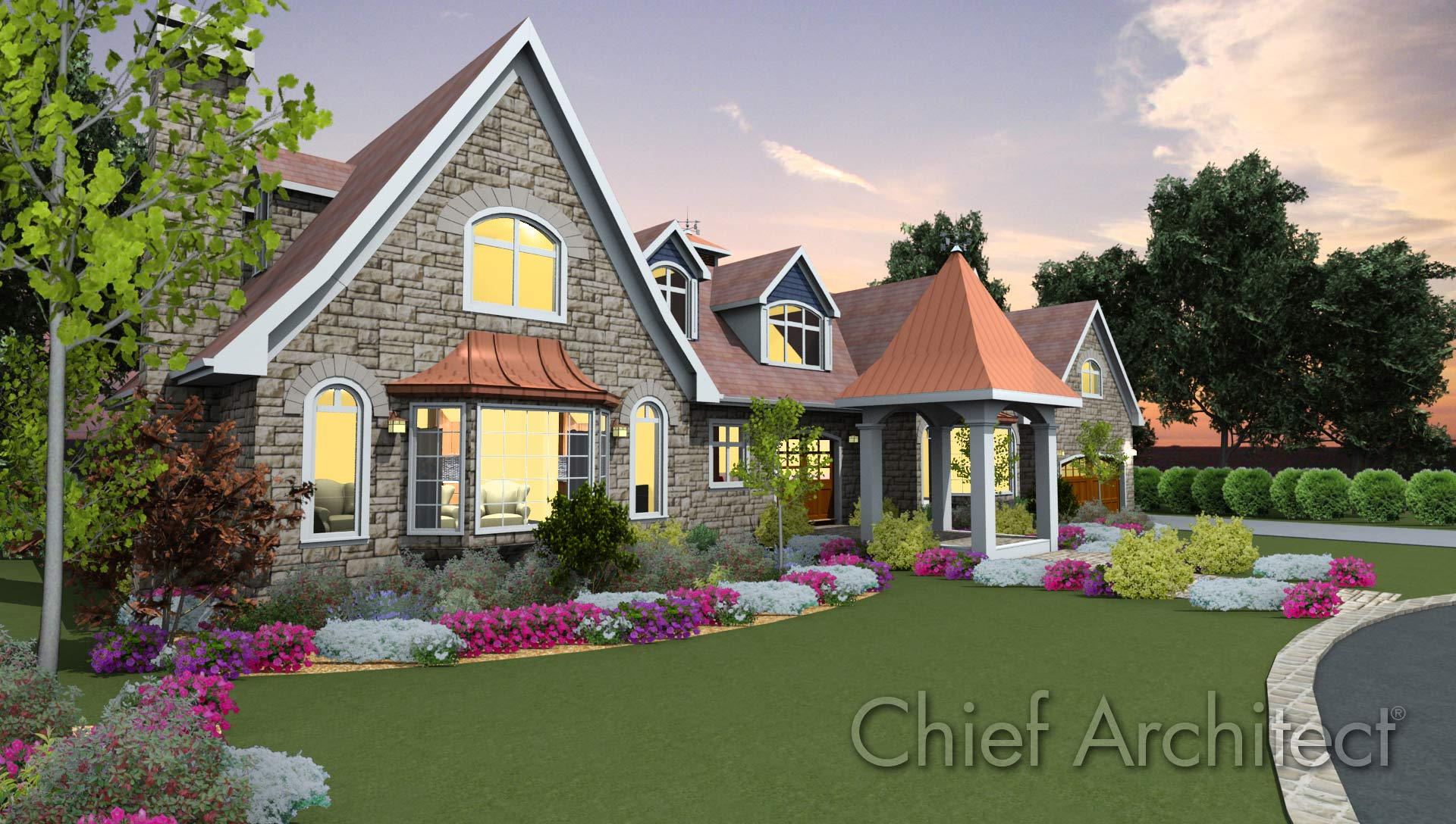 Chief Architect Home Design - Samples Gallery on outside of house wallpaper, outside of house drawing, outside of beach house, outside of house plans, out house design, cleaning design, outside of house decorations, inside of house design, dining room design,