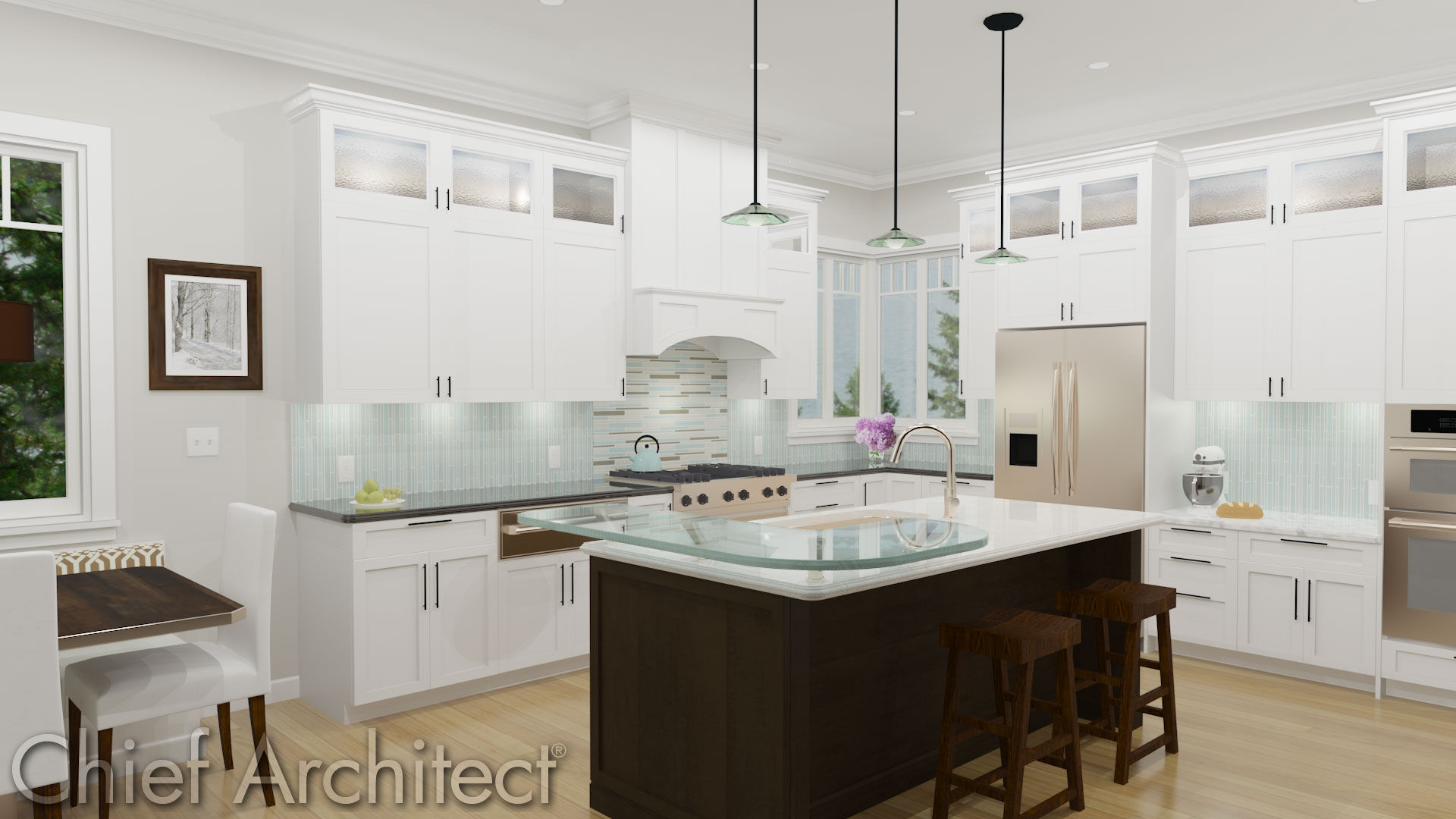 Chief architect home design software samples gallery for Kitchen samples