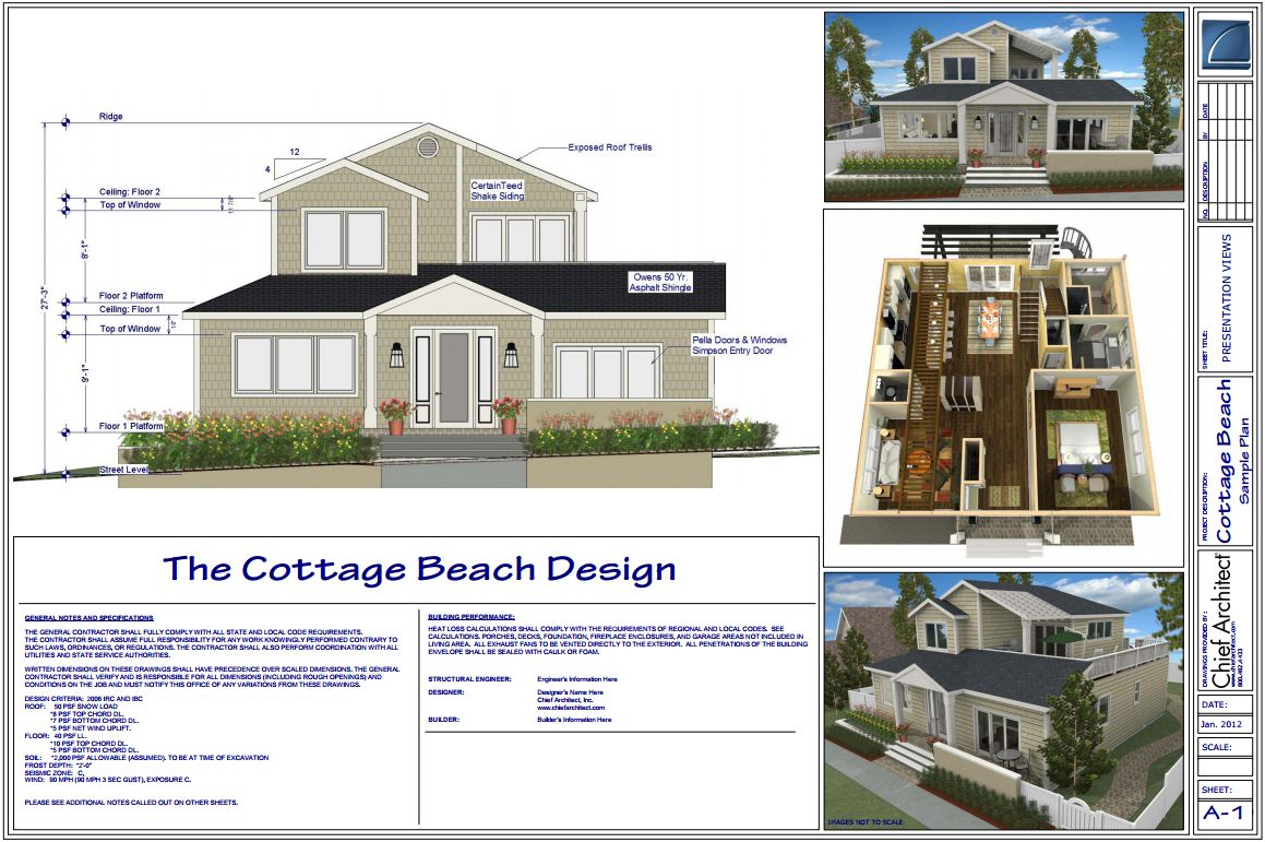 Beach house design for civil engineering students for Home design engineer