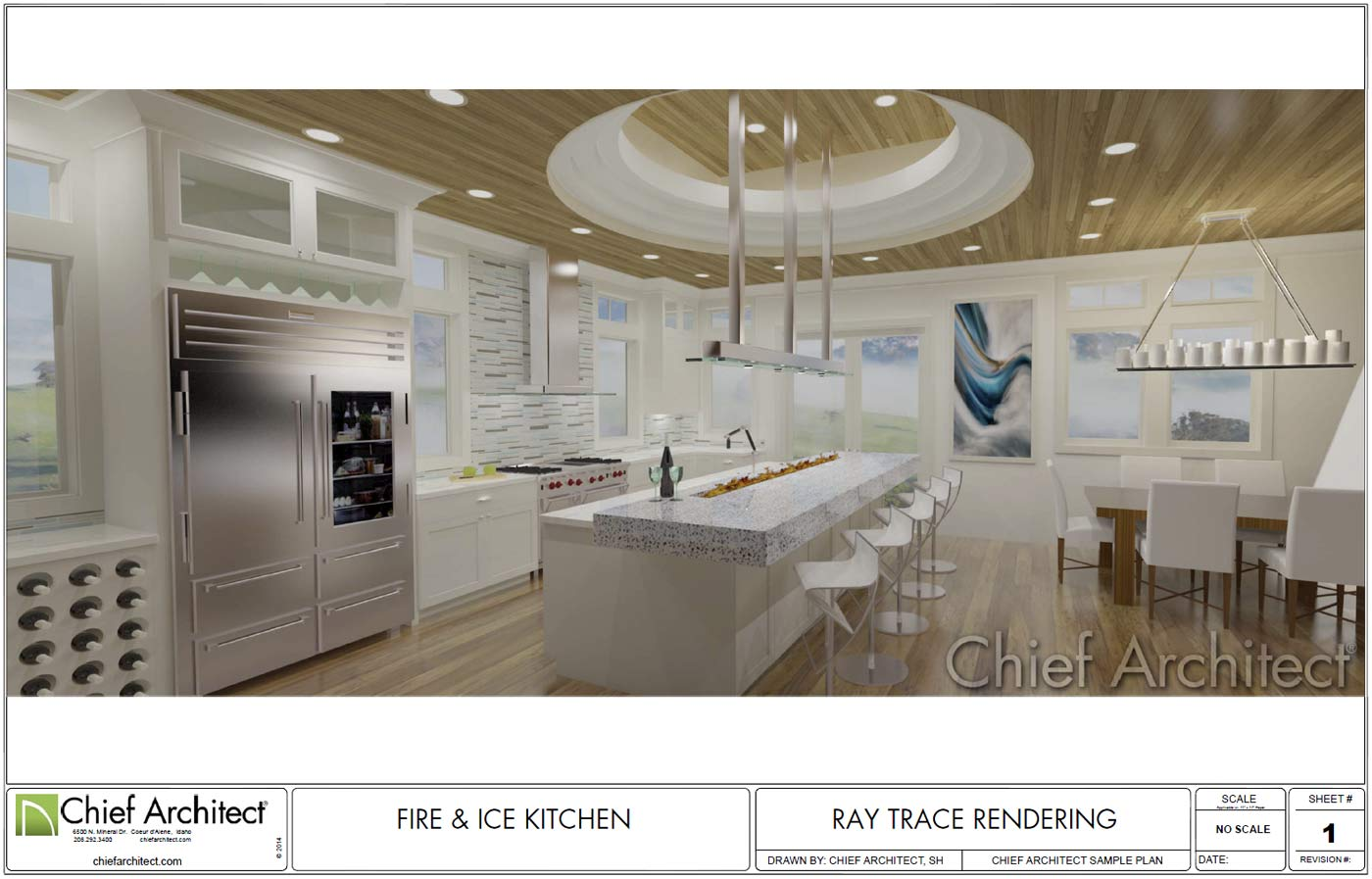 Img Title Fire Ice Kitchen Class U Imagecenter Src Https Cloud Chiefarchitect Com 1 Samples Projects Fire Ice Kitchen Fire Ice Kitchen Thumb Jpg