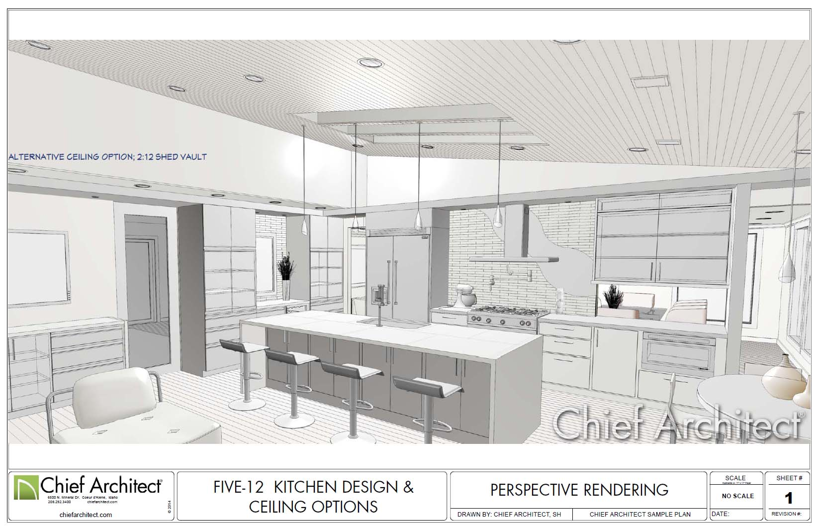 Chief architect home design software samples gallery for Planning a kitchen layout