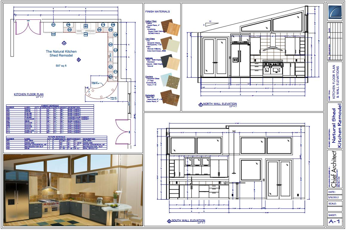 Chief Architect Home Design Software Samples Gallery Trailer Schematics Natural Shed Kitchen