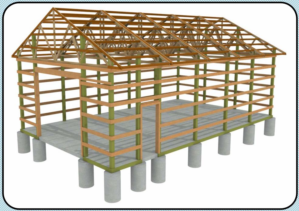 Chief architect home design software samples gallery for Pole barn framing plans