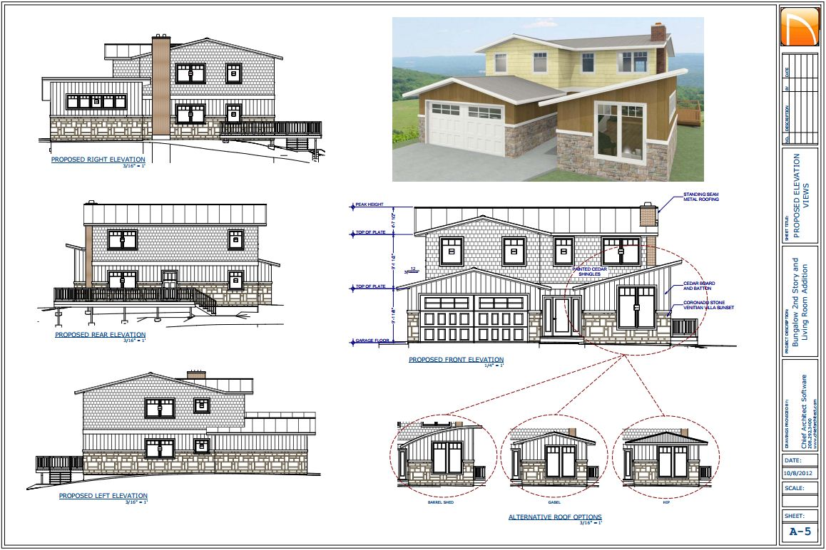 Home construction designs