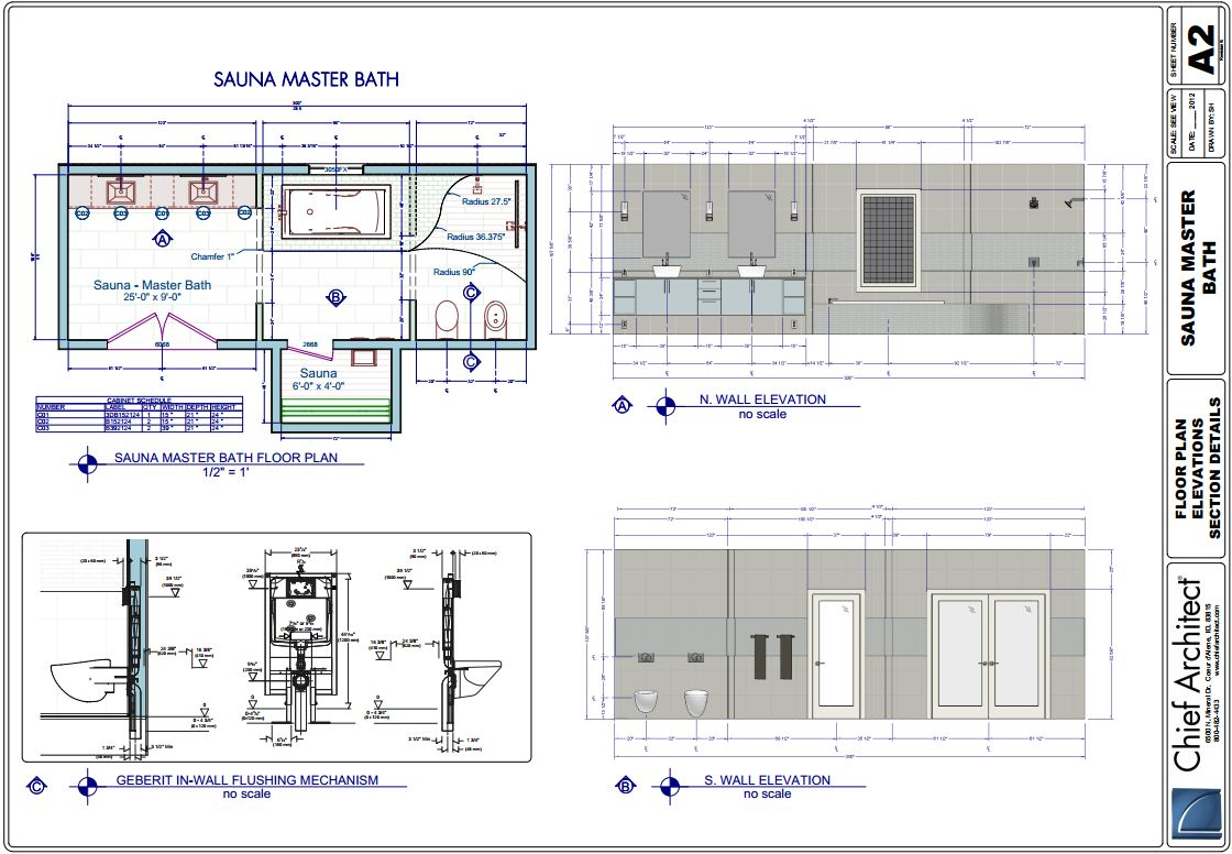 Chief architect home design software samples gallery for Sauna design plans