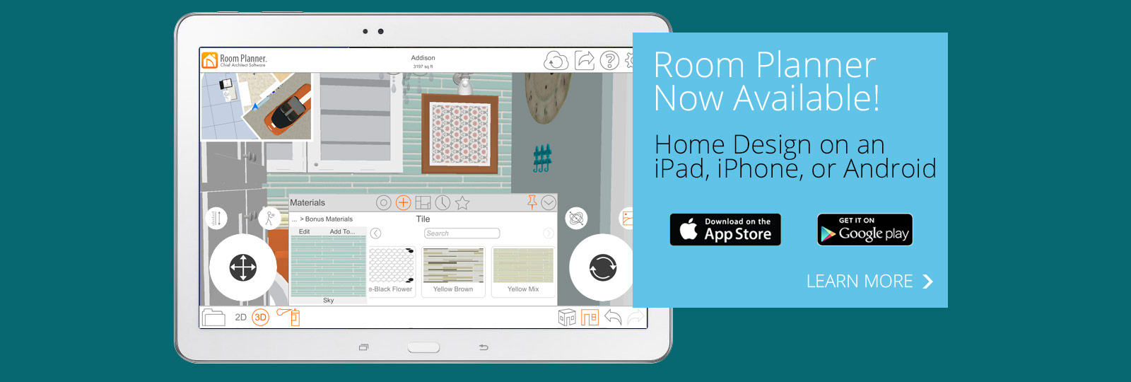Room planner home design software app by chief architect for Home design ipad