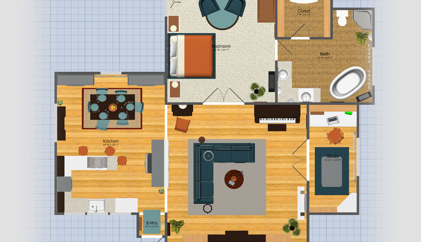 Floorplan view of Room Planner