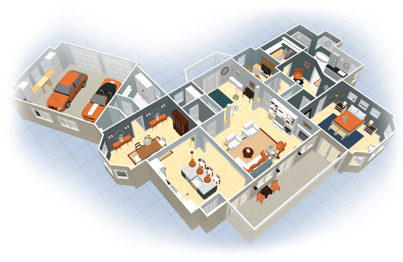 A floor plan created with Room Planner