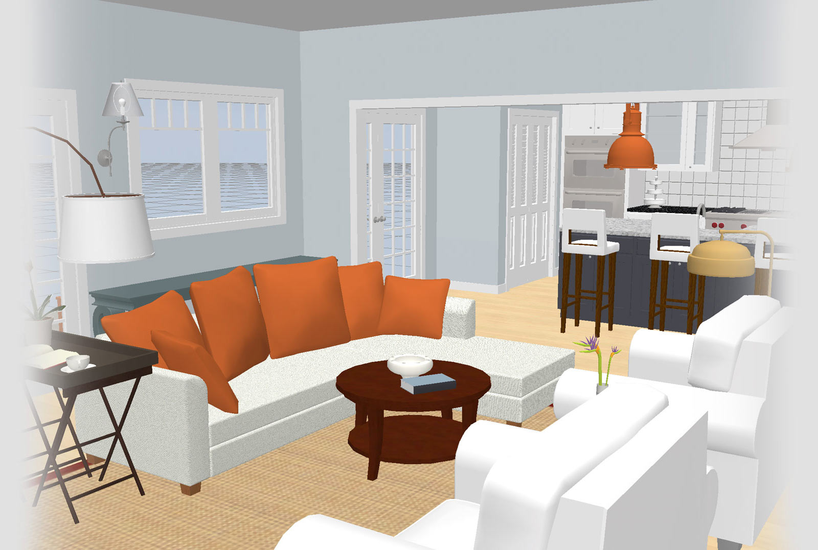 A Sojourn® view of a Living Room